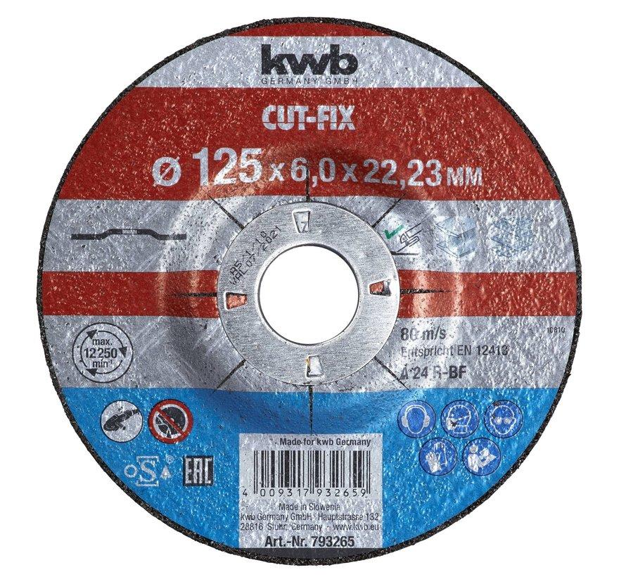 KWB Afbraamschijf 125 x 6,0 x 22,23 mm CUT-FIX®