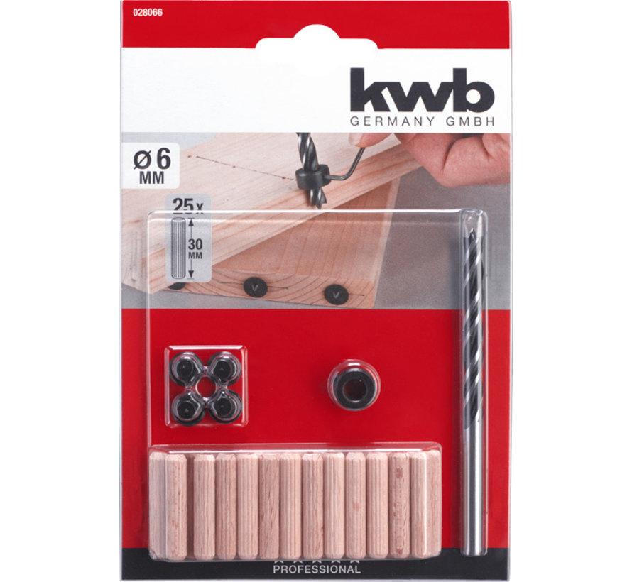 KWB Boor- en deuvelset, 31-delig, ø 10 mm