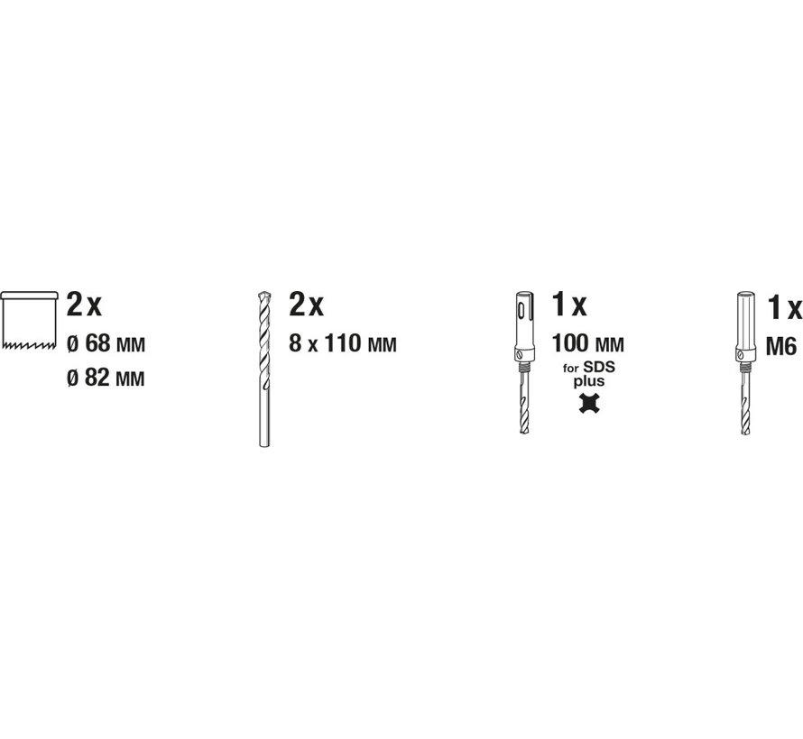 KWB Holle boorkroonen set HARDMETAAL, 6-delig