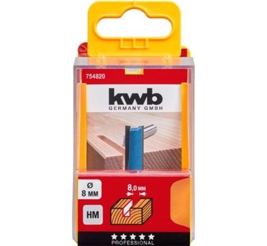KWB vingerfrees 8mm in cassette