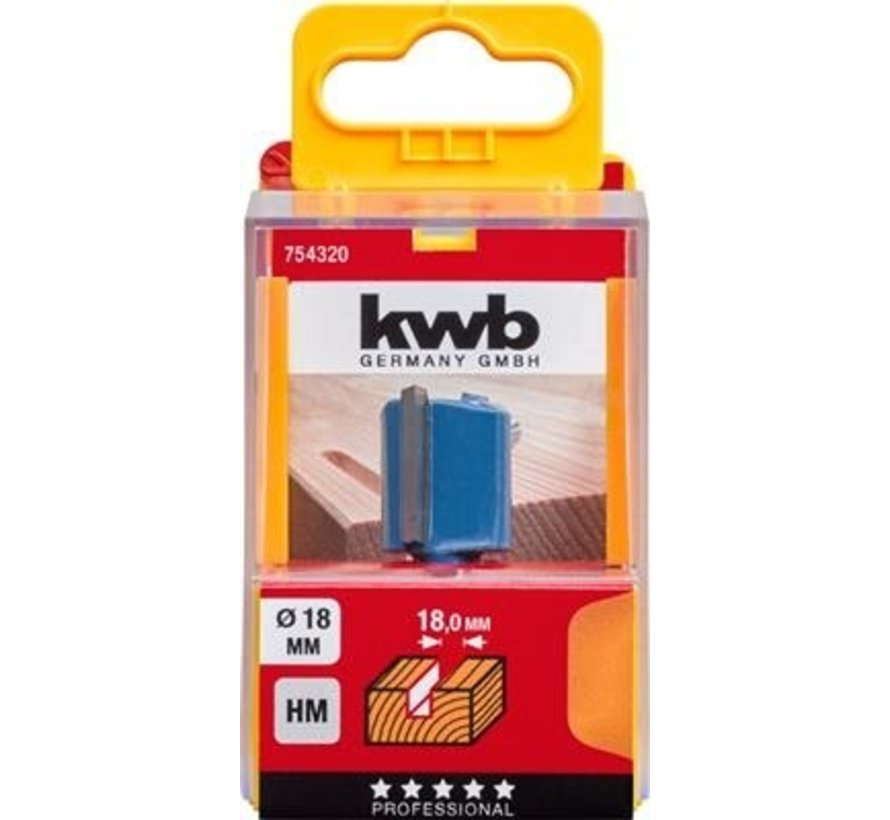 KWB vingerfrees 18mm in cassette