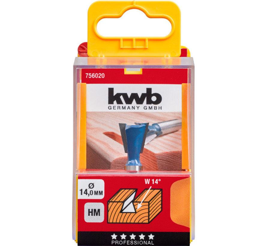 KWB T-Zwaluwstaartfrees 14mm HM
