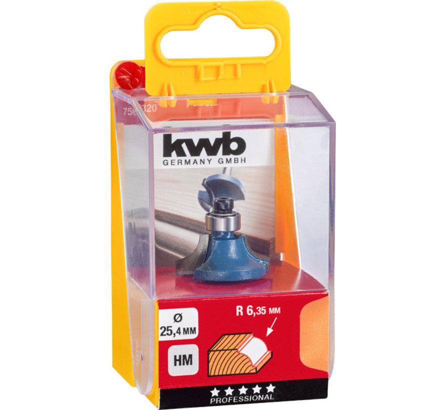 KWB Kwartrondprofielfrees 25,4mm HM