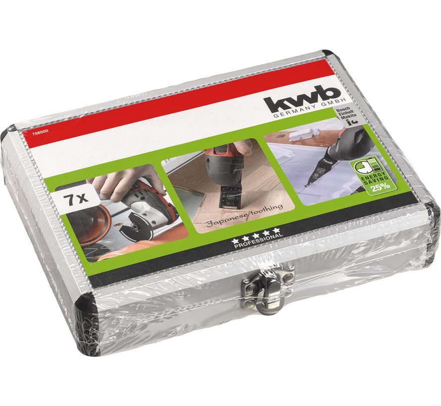 KWB Multitool Accessoireset 7-delig in aluminium koffer