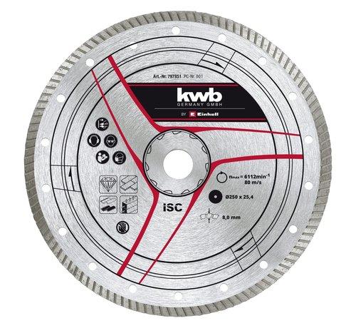 KWB Diamantslijpschijf 250 x 25,4mm Turbo