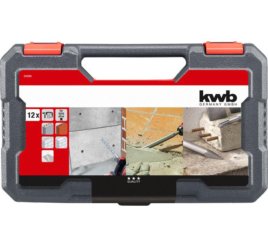 KWB SDS Plus boren en beitel-set 12-delig
