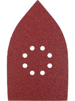 Schuurdriehoeken, hout & metaal. 107 X 175 MM K120