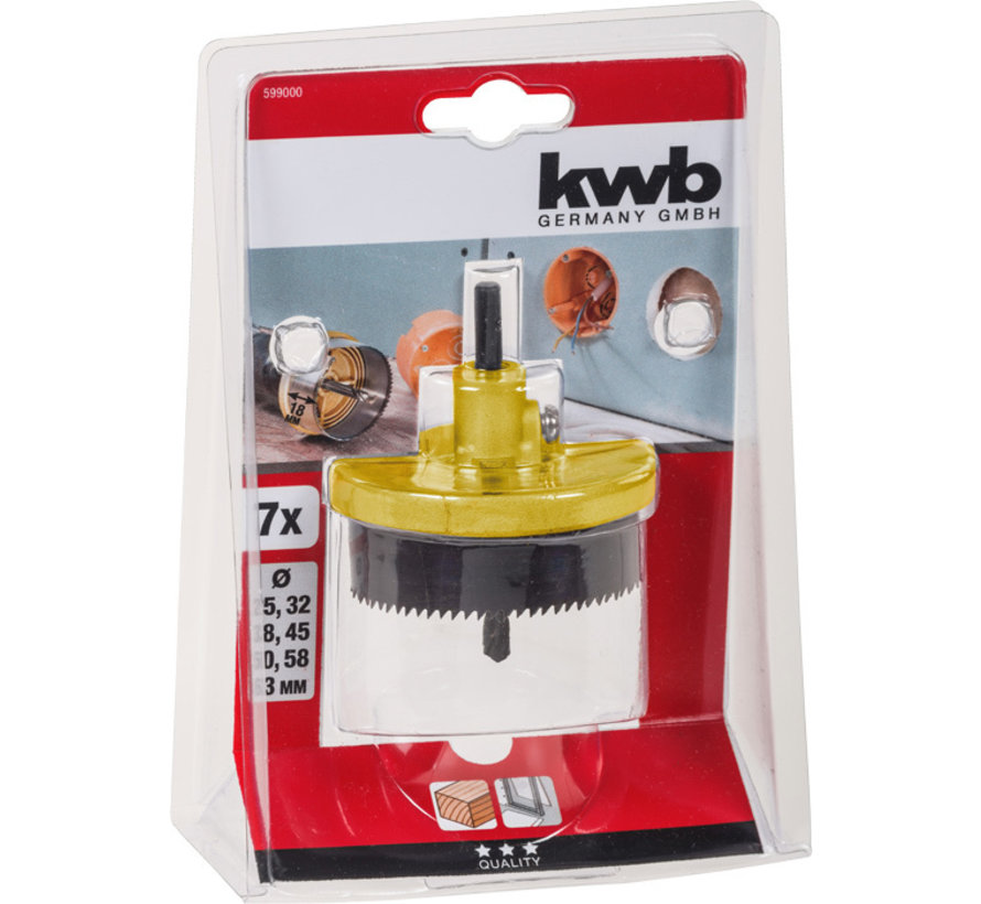 KWB Meerkrans-gatenzagen, 7-delig 25 - 63 mm
