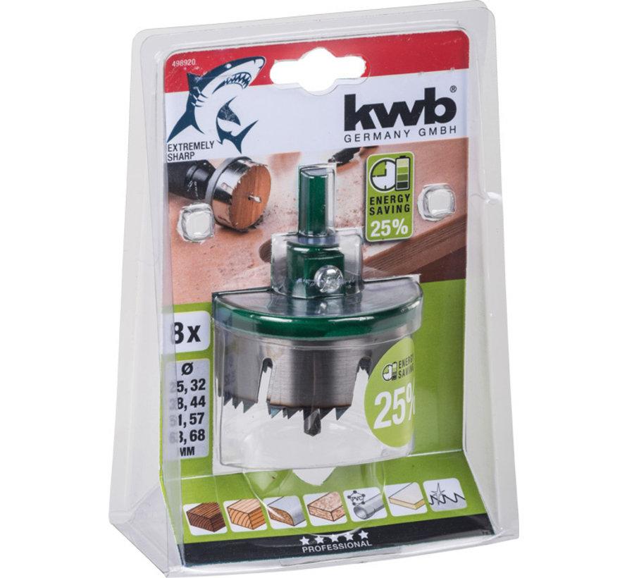 KWB Meerkrans-gatenzagen, 8-delig 25 - 68 mm