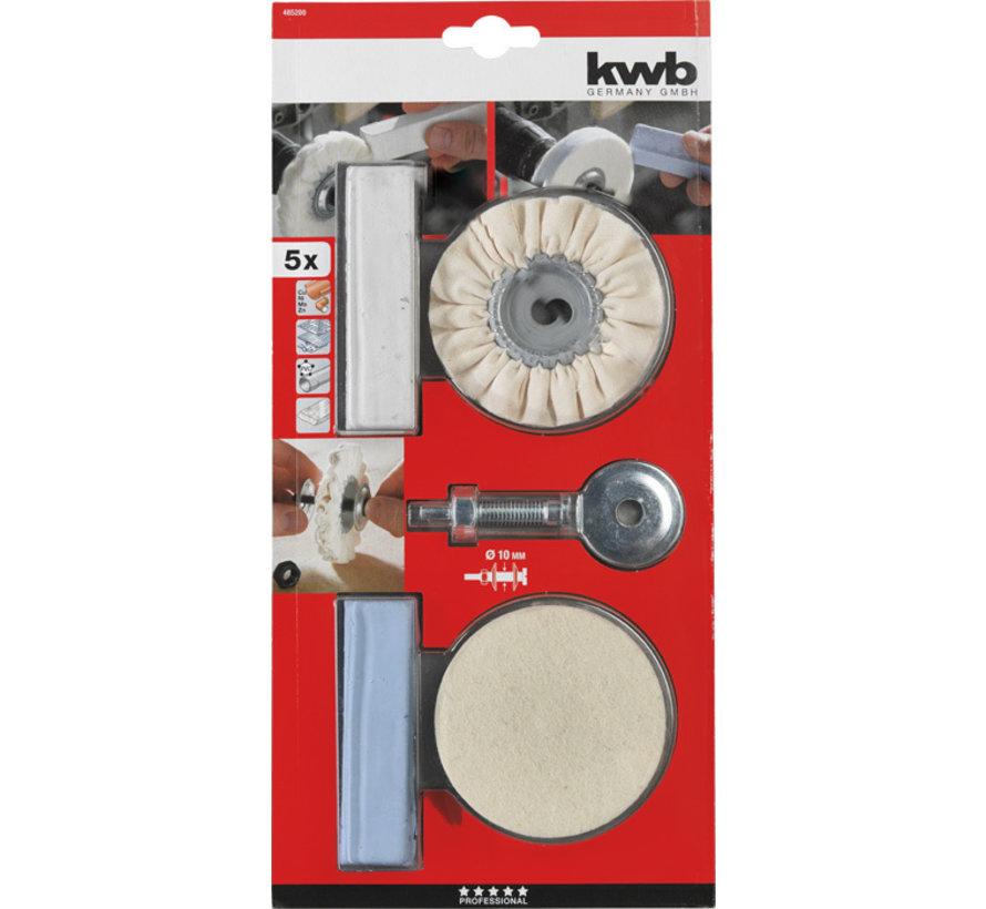 KWB Polijst set 5-delig voor boormachine