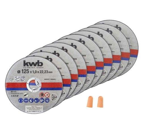 KWB Doorslijpschijf DUN 125 x 1,0 x 22,23 mm