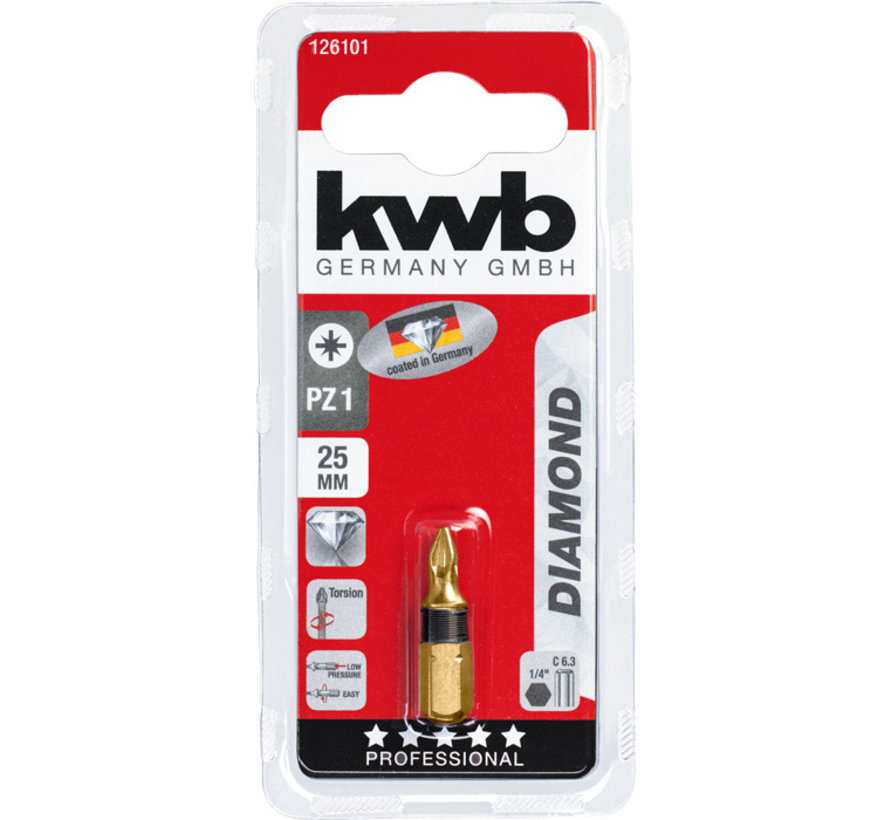 KWB Bit Pozidriv 1 - 25 mm DIAMOND