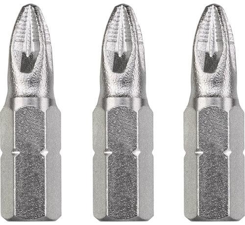 KWB Bit Pozidriv 2 - 25 mm INDUSTRIAL STEEL - 3 stuks