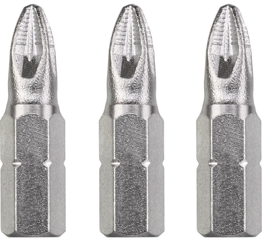 KWB Bit Pozidriv 3 - 25 mm INDUSTRIAL STEEL - 3 stuks