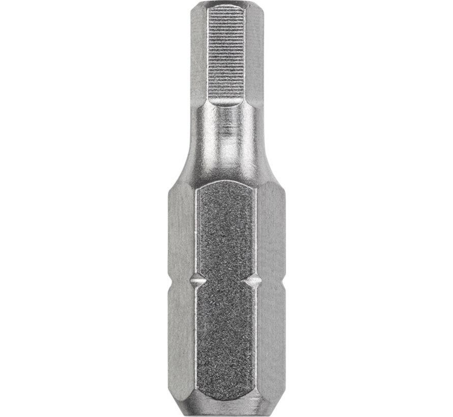 KWB Bit zeskant 5,0  - 25 mm INDUSTRIAL STEEL - 3 stuks