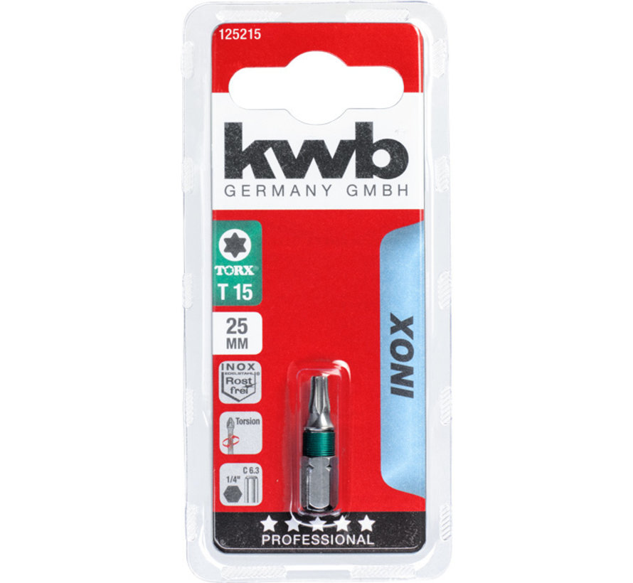 KWB Bit Torx 25- 25 mm INOX