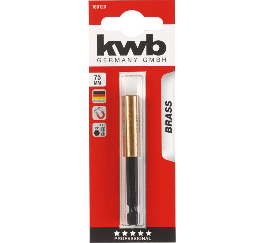 KWB Magnetische bithouder 75 mm BRASS