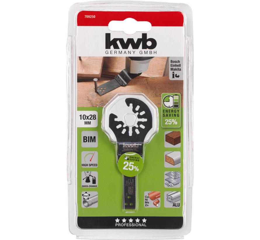 KWB Multitool inval-zaagblad BIMETAAL 10 x 28 mm