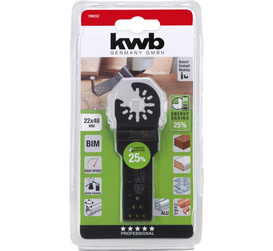 KWB Multitool inval-zaagblad BIMETAAL 22 x 48 mm