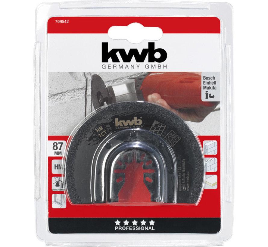 KWB Multitool zaagblad halfrond HM 87mm