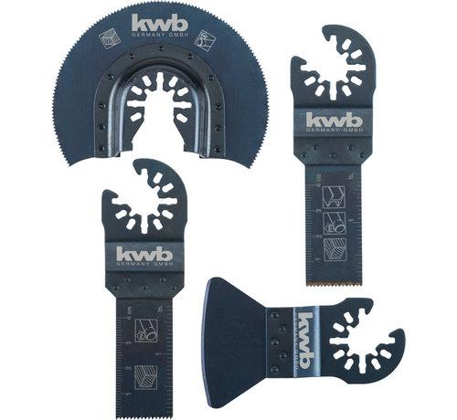 KWB Multitool Vloer- en inbouwset 4-delig