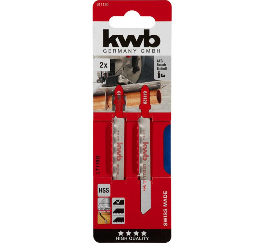 KWB Decoupeerzaagbladen HSS TE118A T-schacht Medium