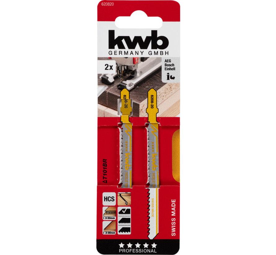 KWB Decoupeerzaagbladen HCS T101BR T-schacht Fijn