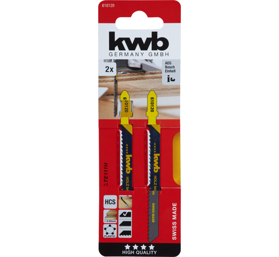 KWB Decoupeerzaagbladen HCS TE111H T-schacht Fijn