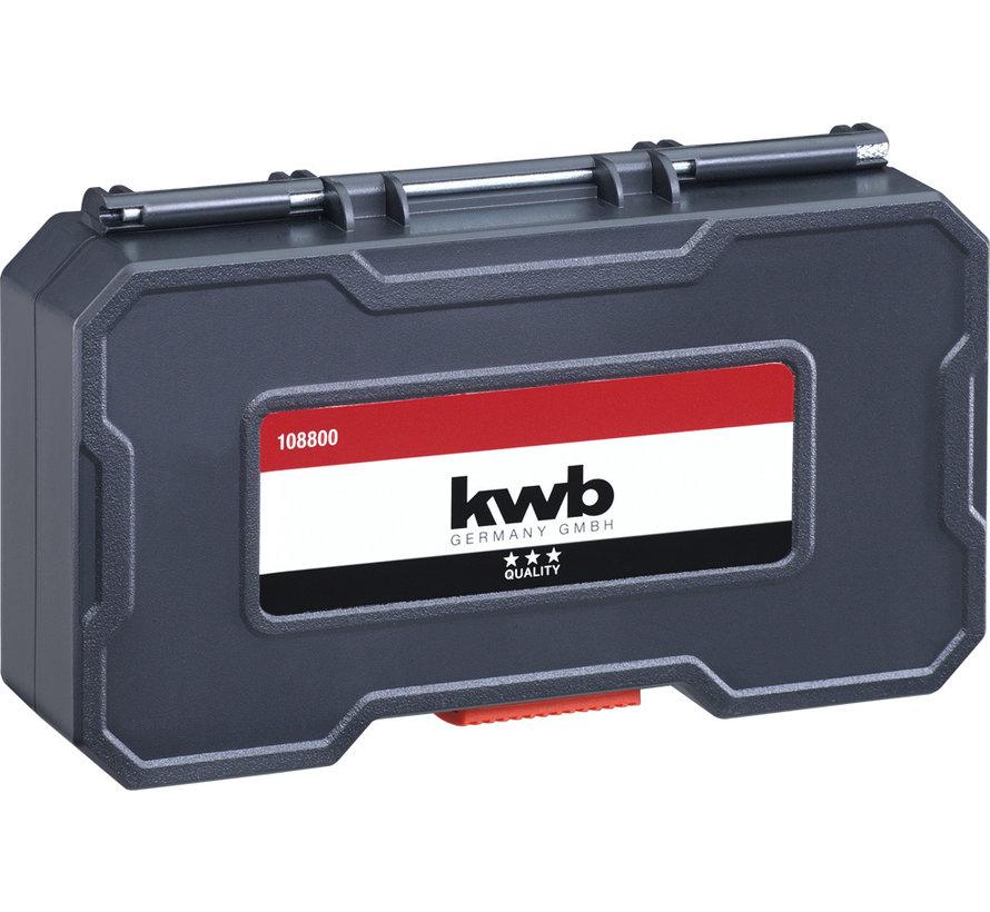 KWB Houtenboren Set in box 12-delig 108830