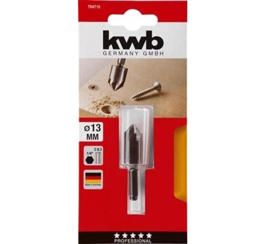 KWB Verzinkboor 13mm zeskant