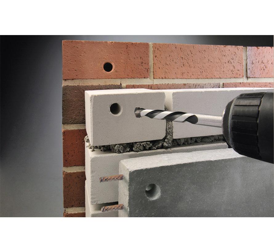 KWB Beton- en -steenboor HM TCT lange uitvoering  ROCKER®
