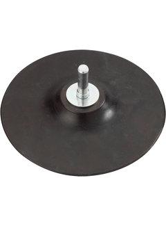 Steunschijf 125mm rubber