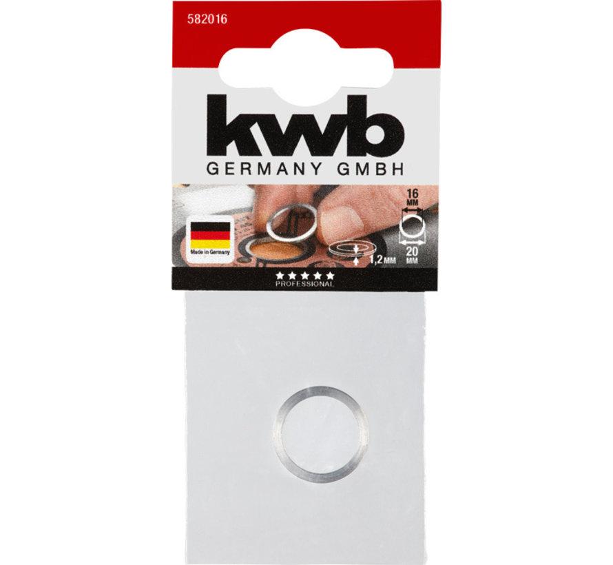 KWB Reduceerring voor cirkelzaagbladen 20-16 mm