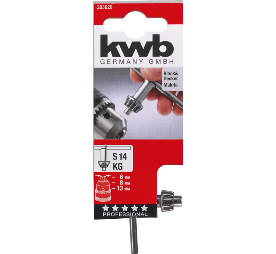 KWB Sleutel voor tandkransboorhouders S14 KG