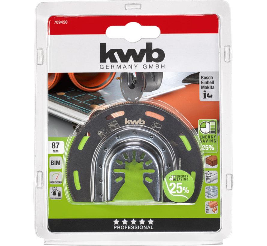 KWB Multitool inval-zaagblad halfrond BIMETAAL