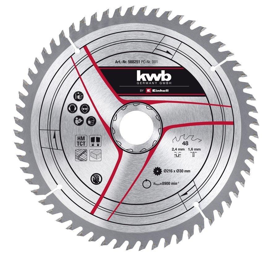 KWB Zaagblad 210 x 30 x 1,2 mm 40 Tands