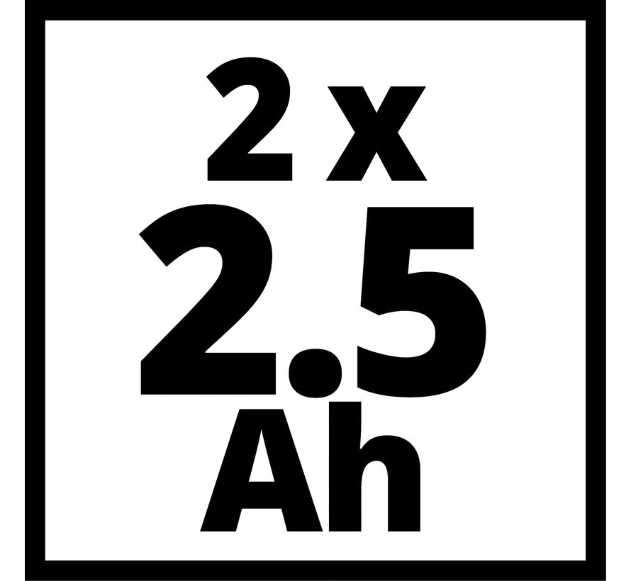 Einhell Power X-Change 18V 2,5 Ah Li-Ion Accu DUO