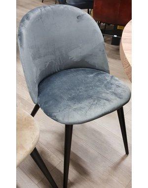 Eettafelstoel Fa velvet grijs