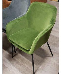 Eettafelstoel Round velvet groen