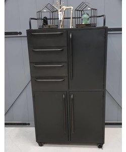 Verrijdbare kast Black Bo - met lades en deuren
