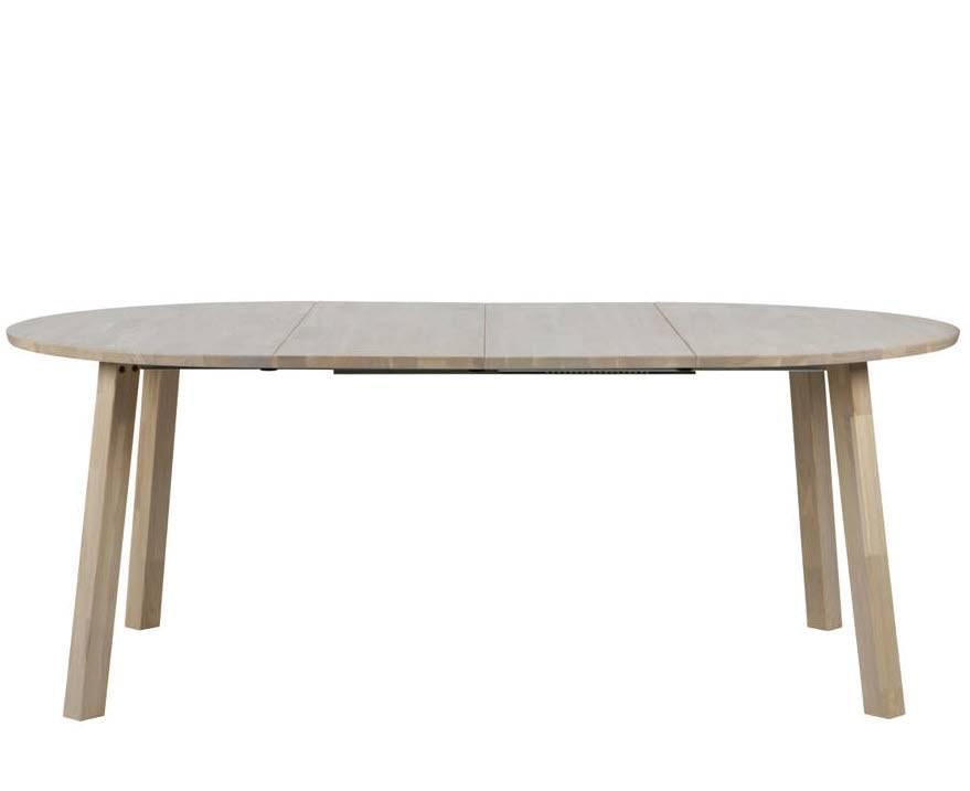Witte Ronde Uitschuifbare Eettafel.Eettafel 120 Rond Uitschuifbaar Tot Ovale Tafel