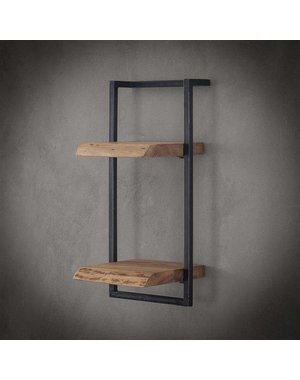 Wandplank Live Edge 30 cm breed, 65 cm hoog