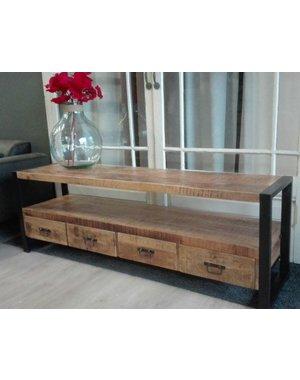 TV meubel Industrial Mango met 4 lades