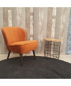 Fauteuil roest fluweel