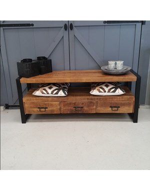 TV meubel Industrial Mango met 3 lades