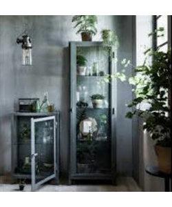 Metalen vitrinekast VT Wonen laag groen