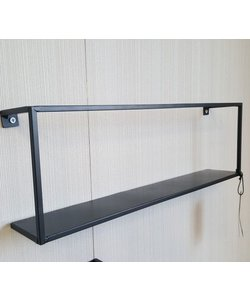 Wandplank metaal S zwart