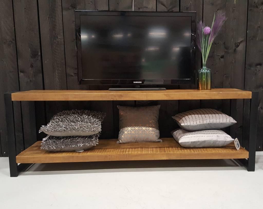 Houten Tv Kast.Tv Meubel Industrial Mango 180 Cm