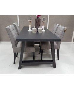 Eettafel Puur A Frame Zwart 230 x 90 cm