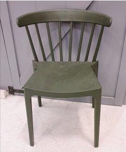 Stoel retro army groen